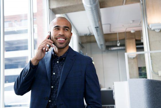 insurance agent on the phone