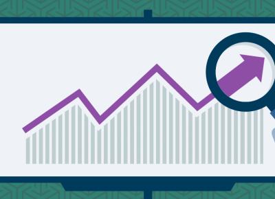 Illustration of a market trending upwards