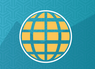 illustration of a yellow globe on a teal background