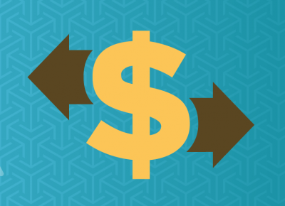 an illustration of a yellow dollar sign on blue background